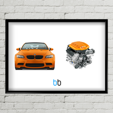 Load image into Gallery viewer, Bmw E92 M3 Gts/s65B44 Combo Print Poster