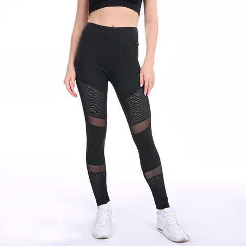 Push Up Yoga Pants with Mesh Patchwork for Women, for Sports, Workout and Yoga