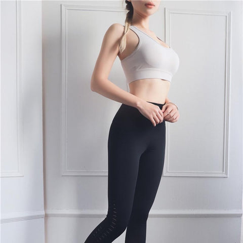 High Impact Sports Bra for Women, with Hollow Back, Shockproof, Push-up Design for Running, Yoga, Gym