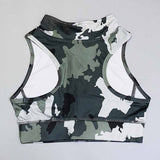 Women Camouflage Print Yoga Set Gym Sport Leggings Yoga Sport Shirt Quick Drying Running Work Out Training Fitness Suit