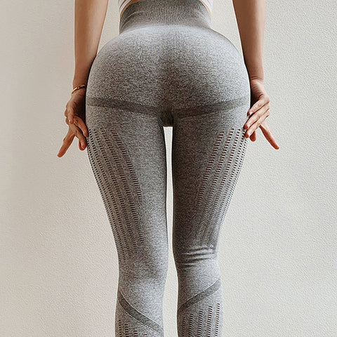 Women's High Waist Seamless Leggings with Mesh for Jogging, Gym, Yoga and Other Fitness Activities