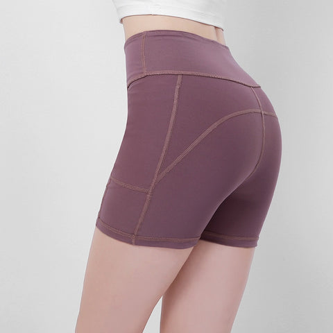 Solid Colour Push Up Shorts for Women, for Running, Gym, and Workout