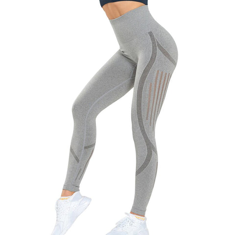 Seamless High Waist Leggings for Women, with Hollow Out Design, for Running, Yoga and Sports