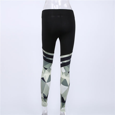 Women's Slim Fit, High Waist Workout Leggings with Camouflage Digital Print for Yoga, Gym, Running, and Other Activities