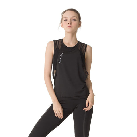 Women's Loose Sleeveless Sports Top with Quick Dry Fabric for Yoga, Sports and Workout