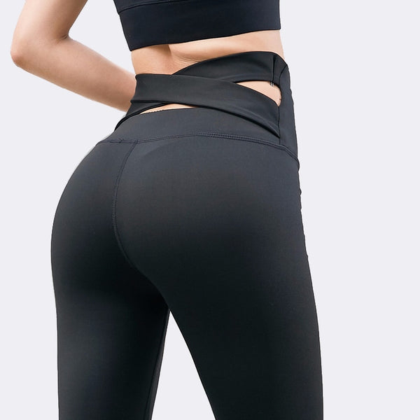 Women's Hollow Out, Seamless, High Waist Fitness Leggings for Yoga, Gym and Jogging