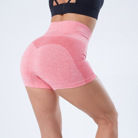 Seamless Sports Shorts for Women, High Waist, Push Up, Breathable Fabric for Gym, Yoga