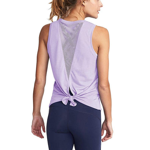 Sleeveless Workout Top for Women, with Quick Dry, Breathable Fabric and Hollow Out Design