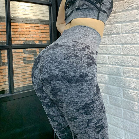 Women's Seamless Camo Leggings for Workout, Gym, Yoga, and Sports