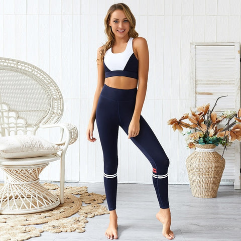 Women's 2 Piece Seamless Yoga Set with Sports Bra + High Waist Leggings for Gym, Workout, Sports