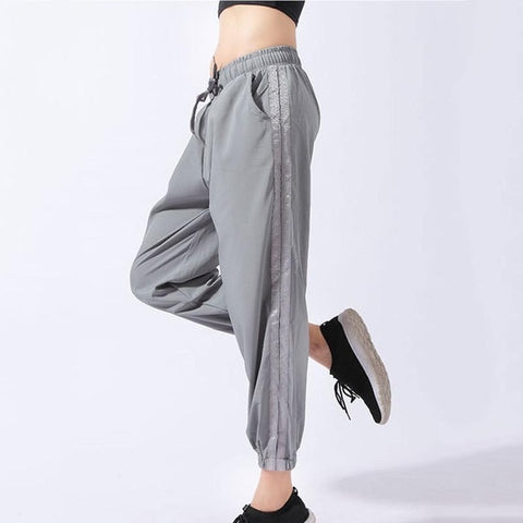 Women's Striped Sweatpants with Breathable Fabric, for Gym, Sports, Fitness Workout, Yoga Training, and Running