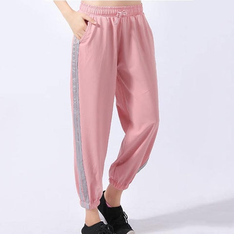 Women's Striped Sweatpants with Breathable Fabric for Gym, Sports, Fitness Workout, Yoga Training, and Running