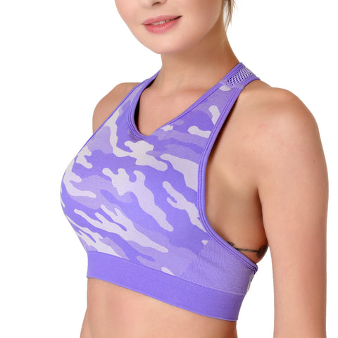 Seamless, High Stretch Sports Bra for Active Women with Breathable Fabric for Sports, Bodybuilding and other activities