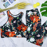 Women's Sports Suit with Floral Print for Yoga, Workout, Running, and other activities