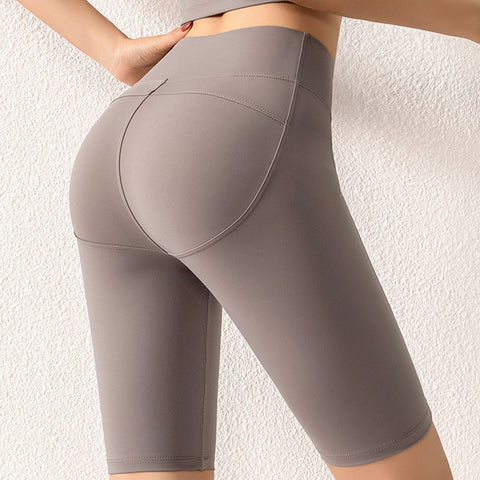 Women's Casual Mid Waist, Push-up, Fitness Shorts for Workout, Sports