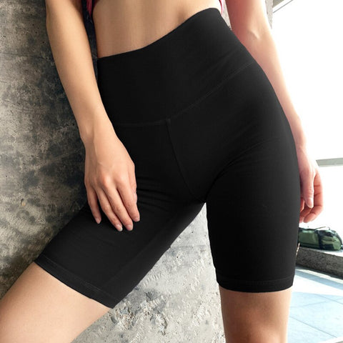 Women's High Waist Push-up Fitness Shorts with Breathable Fabric, for Sports, Running, Workout