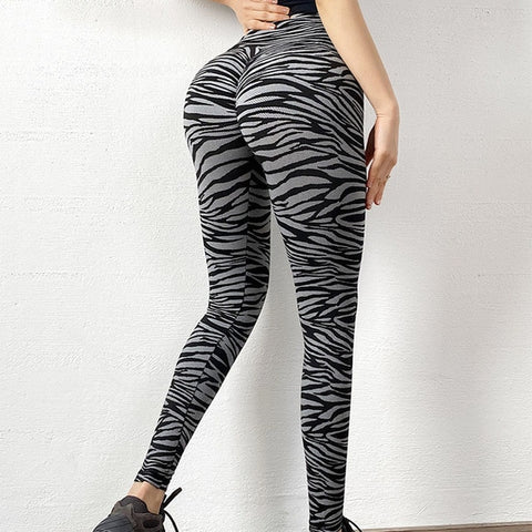 Zebra Printed High Waist Stretchable Leggings for Yoga, Gym and Other Fitness Activities
