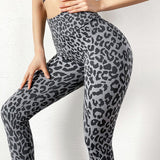 Leopard Printed High Waist Stretchable Leggings for Yoga, Gym and Other Training Activities