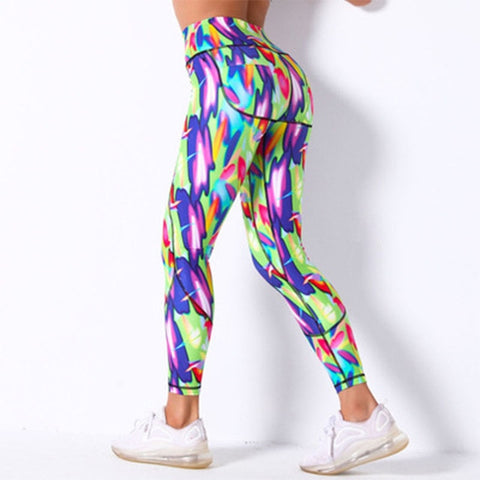 Women's Slim Fit Printed Tights for Work Out, Running, Gym, Jogging and other Sports Activities