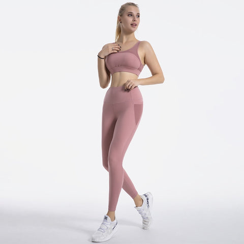 Women's Sports Suit with Breathable, Quick dry Bras and Leggings for Gym, Yoga and Running