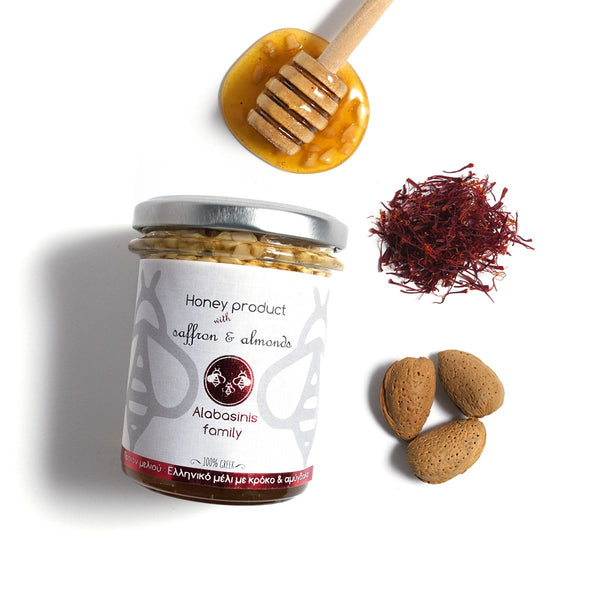 Honey with Saffron & Almonds 400g