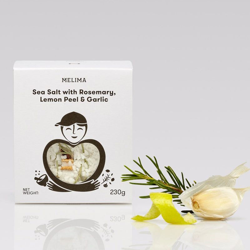 Sea Salt with Rosemary, Lemon Peel & Garlic 230g