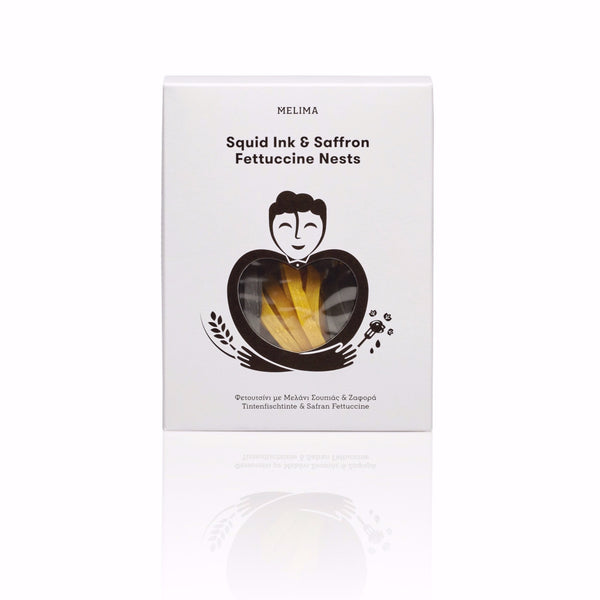 Squid Ink & Saffron Fettuccine Nests 250g