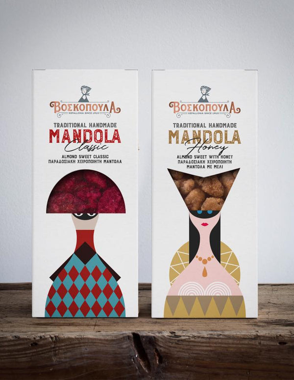 Traditionally Handmade Mandola (Candied Almonds) with Honey 140g