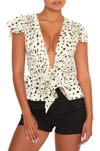 Dalmatian Dame Blouse - Perfectly Unique Boutique