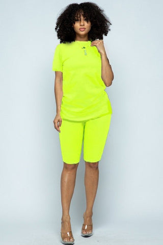 """Essential"" Biker Short Set - Neon"