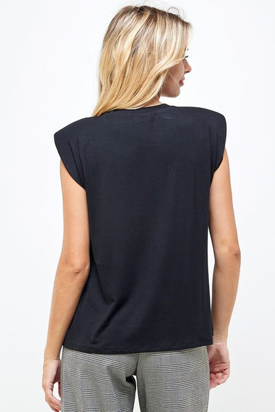 Muscle Tee - Basic - Shoulder Pad - Crew Neck