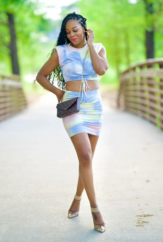 Tye Die Skirt Set - Perfectly Unique Boutique