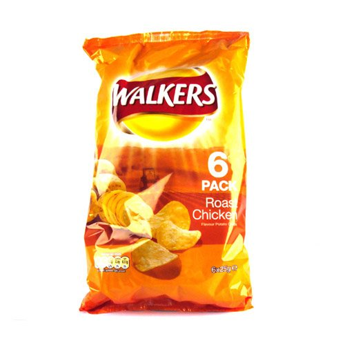 Walkers Roast Chicken Crisps - 6 Pack
