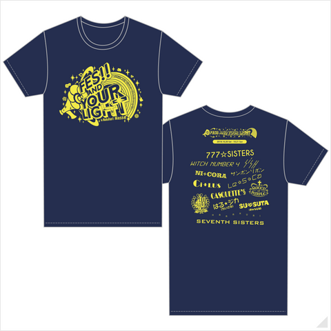 t7s 4th Anniversary Live -FES!! AND YOUR LIGHT- in Makuhari Messe Tシャツ(ネイビー)