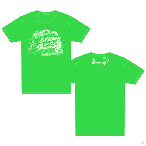 t7s 5th Anniversary Live -SEASON OF LOVE- in Makuhari Messe Tシャツ(GREEN)