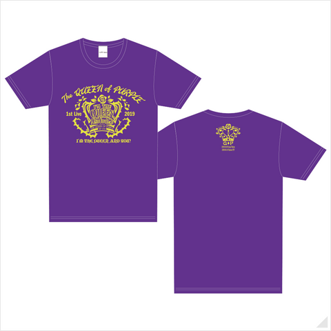 "The QUEEN of PURPLE 1st Live ""I'M THE QUEEN, AND YOU?"" Tシャツ(PURPLE)"