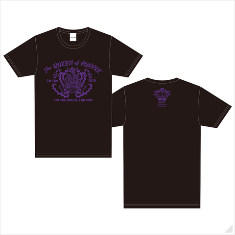 "The QUEEN of PURPLE 1st Live ""I'M THE QUEEN, AND YOU?"" Tシャツ(BLACK)"