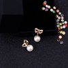 Pearl Earrings Bow tie