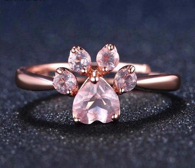 Paw Prime Rose Quartz Ring