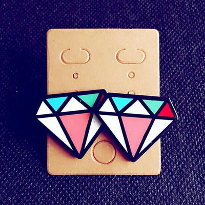 Funky Stud Earrings