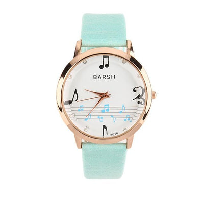 Music Score Quartz Wrist Watch