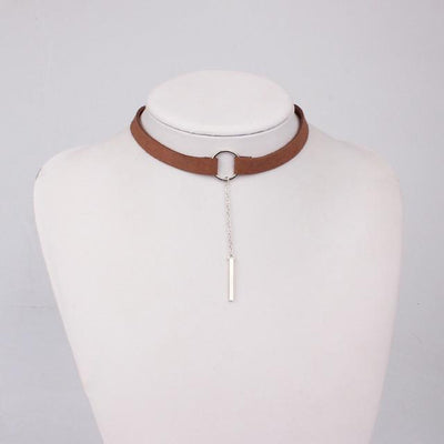 Leather Choker Necklace