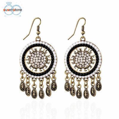 Boho Crystal Rhinestone Ear Earrings
