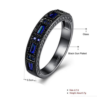 Black Gold Colored Band Ring