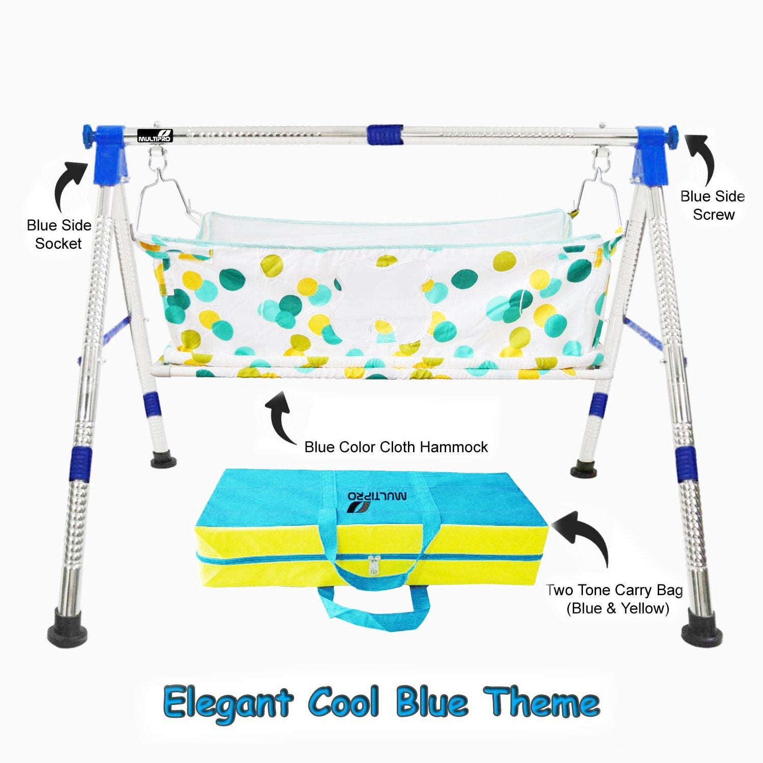 Baby Portable Premium Folding Swing Cradle with Carry Bag