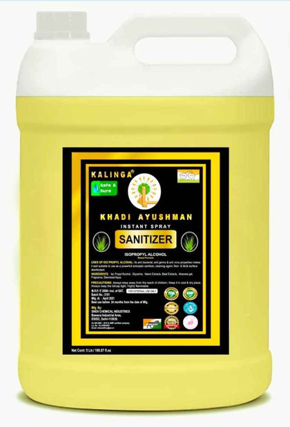 Kalinga Khadi Ayushman Hand Sanitizer 5 L with Lime