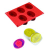 Silicon 5 Cavity Non Stick Oval Shape Mould Tray