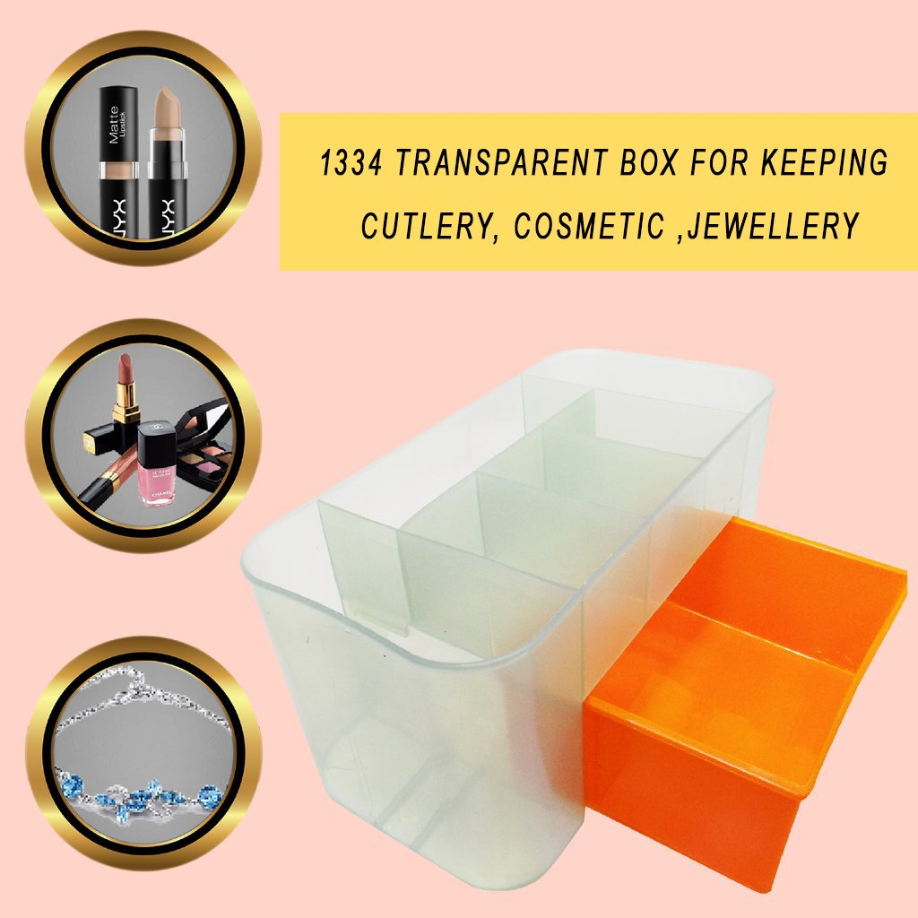 1334 Transparent Box for keeping Cutlery ,Cosmetic ,jewellery - DeoDap