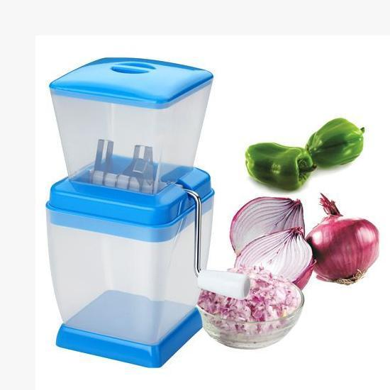 Small Onion Chopper & Vegetable Chopper Quick Cutter with Rotating Blade