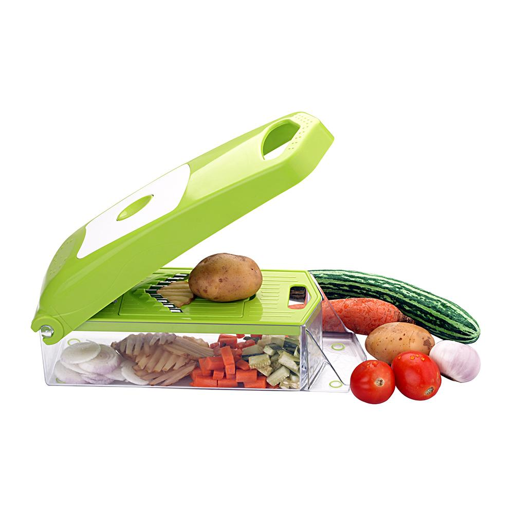 Plastic 12-in-1 Jumbo Manual Vegetable Grater, Chipser and Slicer